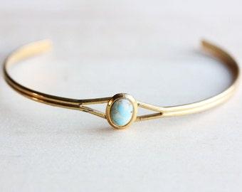 Turquoise Cuff Bracelet, Small Cuff Bracelet, Turquoise Dot Bracelet, Dot Bracelet, Gold Cuff Bracelet, Small Gold Cuff, Blue Bracelet, Cuff