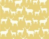 Elk Family Sun, Birch Organic Fabrics, Mod Basics 2, Organic Designer Cotton, Yellow, Gold,Unisex Baby, Boy, Girl, Adult, In Custom Cuts