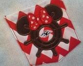 Disney Cruise Line ships wheel Minnie Mouse, Sailor vacation  Chevron pocket t-shirt