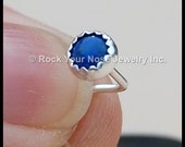 Denim Lapis and Sterling Silver Nose Stud - CUSTOMIZE