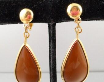Trifari Brown Earrings