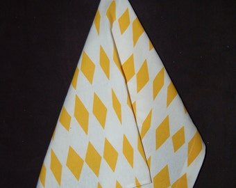 yellow and white Kitchen Towel, Small and Cute from Finland