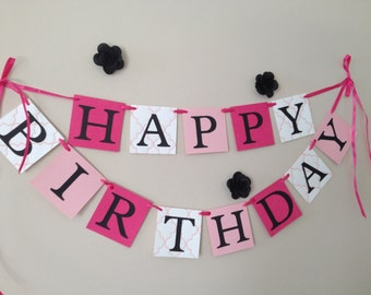 Happy Birthday Girl's Party Banner