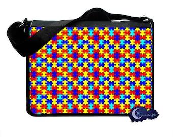 Autism Awareness Puzzle Piece - Messenger and Laptop Computer Bag