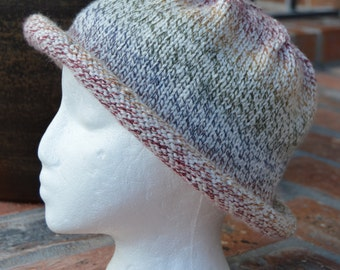 Colorful Brimmed Knitted Hat