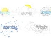 Weather Stickers for Planner
