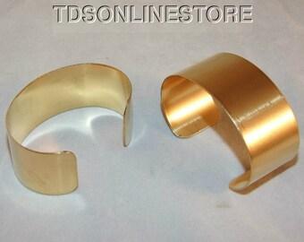Brass Bracelet Cuff Blanks Wholesale Lot 1.5 inch Pkg Of 12