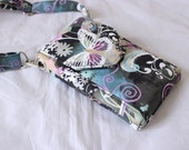 Cell phone purse - mobile phone bag - cell phone pouch - travel bag - small crossbody bag - small butterfly purse phone sling  MADE to ORDER