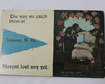 Antique Postcard, Cameron, West Virginia, Humorous Romance, Unused