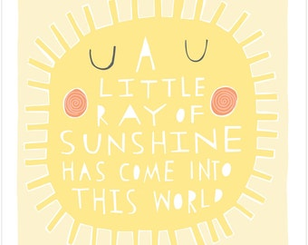 A Little Ray Of Sunshine - Fine Art Print