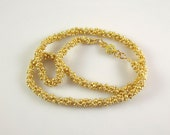 Delicate Golden Woven Bead Necklace