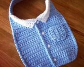 Baby Business Bib - crochet pattern - PDF