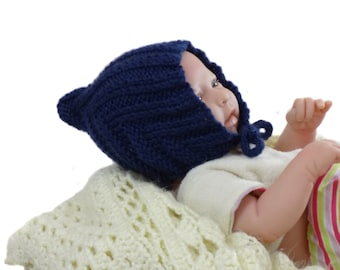 Navy Blue Elf Pixie Hat - Navy Blue Baby Hat