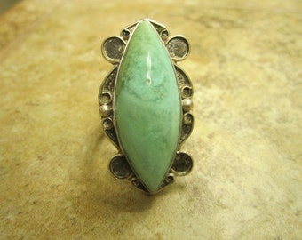 Sterling Silver Chrysocholla Ring - Size 10 - EXQUISITELY EXERCISED to EXCELLENCE