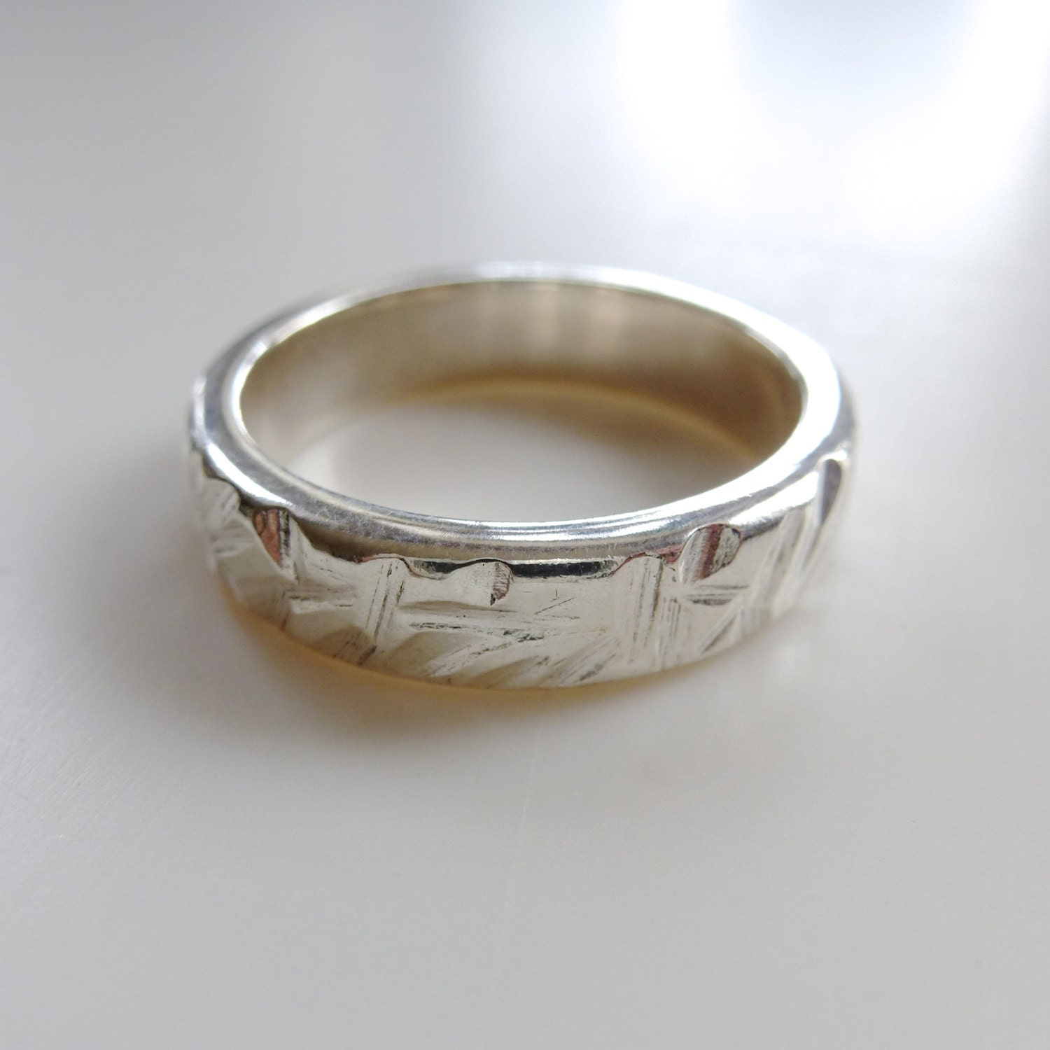 reeds wedding band made to order in your size material