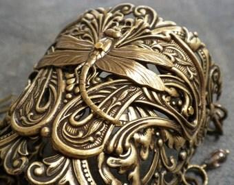 Dragonfly Outlander Jewelry Wide Cuff Bracelet