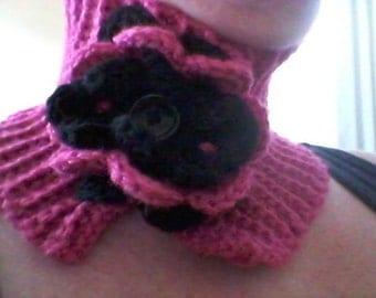 PATTERN ONLY Crochet feminine flower neck warmer