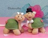 Sweetheart Turtle Wedding Cake Toppers