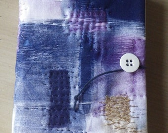 Journal - Handmade, Navy, Purple and Gold