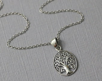 Tree of Life, Gift for Mom, Gift for Grandmother, Tree of Life Necklace, Casual Necklace, Everyday Necklace, Gift for Wife, Gift for Her