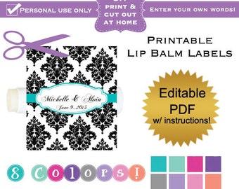 lip balm label etsy. Black Bedroom Furniture Sets. Home Design Ideas