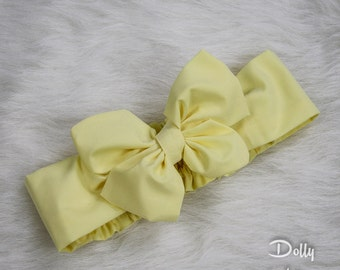 Solid Buttercup Yellow - Dolly Rosie Scarf - Better than a Head Wrap - Retro Vintage Infant, Baby, Toddler, Girl, Teen, Adult