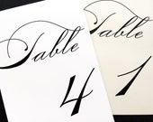 Elegance Table Numbers - Table Number Tents - Wedding Table Number Cards
