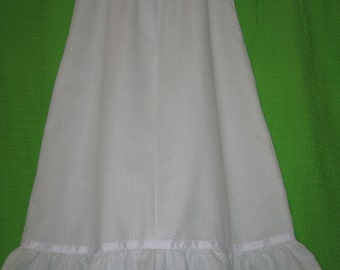 White Seersucker Nightie size 5