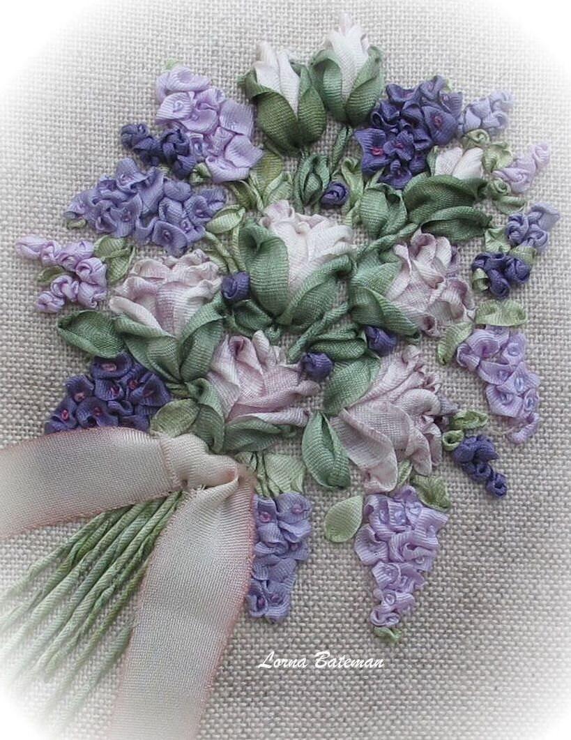 Silk ribbon embroidery petites fleurs full kit