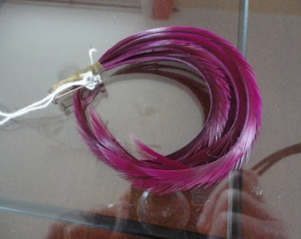 Vintage Purple Feathers Cluster Milinery 60's