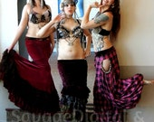 Reserved for MW Benne Gezeritt Destash Tribal Fusion bellydance ruffle madness mermaid skirt in velvet