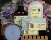 PETAL OF HONOR Handmade Soap Gift Set - Grandma Gifts - Hydrangea Soap Gift Set - Soap, Candle, Lotion, Perfume, Body and Room Spray