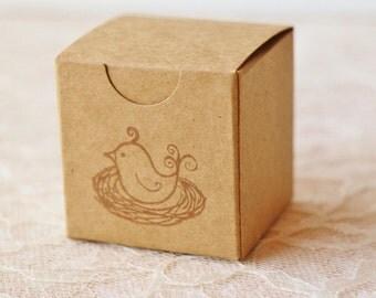 Bird Nest Kraft Boxes Set of 6