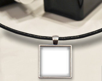 Four Templates - 1 Inch Square Tray Pendants on Cord