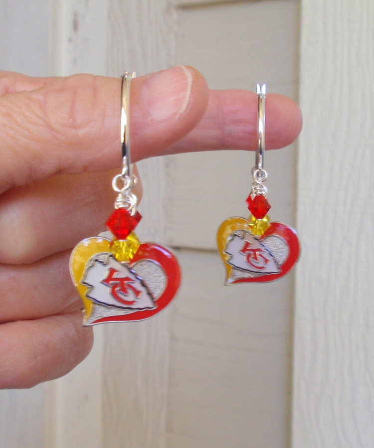 Kansas City Chiefs Earrings KC Chiefs Jewelry Red By