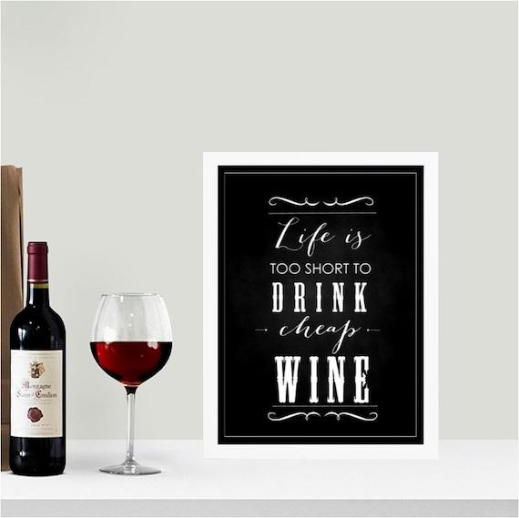 Cheap wine chalkboard wall art print for Wine chalkboard art