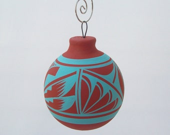 Southwest Ornament Bulb Rustic Turquoise