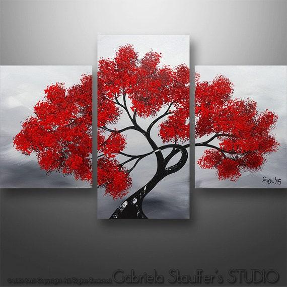 Peinture moderne acrylique paysage peinture original peinture for Peintures en noir et blanc