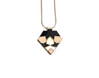 SALE / Mini Mosaic NECKLACE / Black