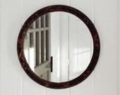 Vintage Mirror Round Barbola Frame