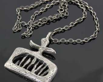 SALE - Robert Larin Pewter Necklace - Canada - 1970 - Modernist