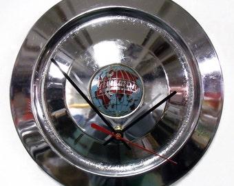 1955 - 1967 Triumph Wall Clock - TR3 TR4 TR4A Hubcap Hub Cap - 1956 1957 1958 1959 1960 1961 1962 1963 1964 1965 1966