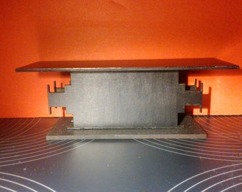 Modern furniture, black thin TV table, 1/12 miniature for dollhouses