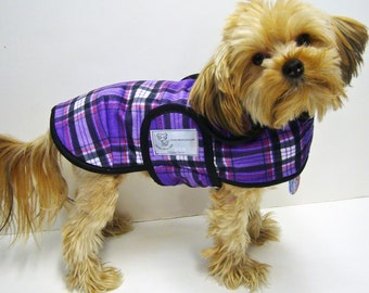 Purple Plaid Minky Dog Coat  20 dollars to 50 dollars depending on the size by Doodlebug Duds