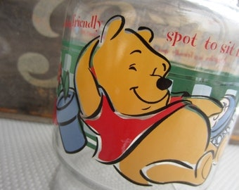 Vintage Winnie the Pooh Eyeore Carafe A Garden is a Friendly Spot Anchor Hocking Disney