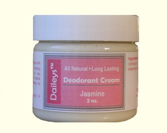 Jasmine - Deodorant Cream - All Natural Aluminum Free