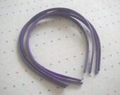 Purple Plastic Headbands (4)