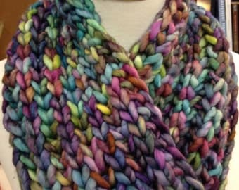Super Bulky Brioche Cowl Pattern (with a Moebius Twist)