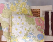 Vintage full size flat sheet