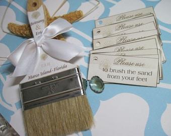 Beach Wedding - Beach Destination Weddings - Custom Sand Brushes